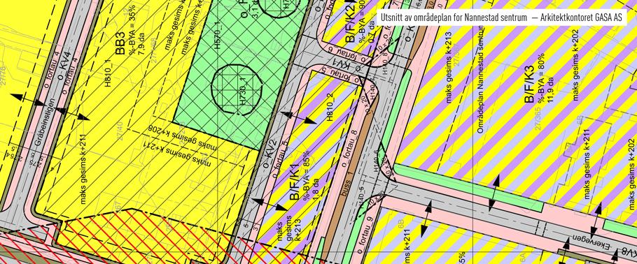 Utsnitt av områdeplan for Nannestad sentrum — Arkitektkontoret GASA AS